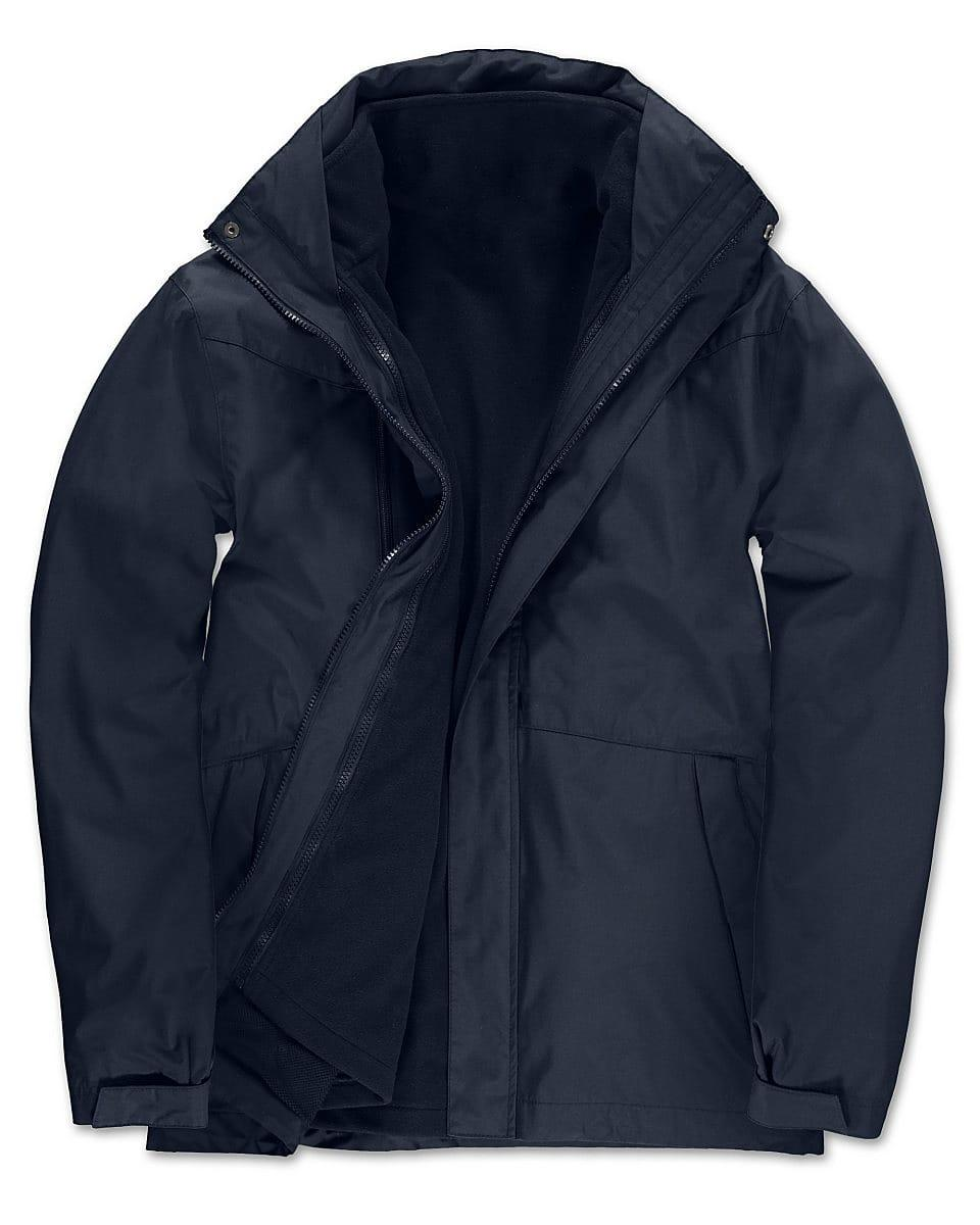 B&C Mens Corporate 3-in-1 Jacket in Navy Blue (Product Code: JU873)