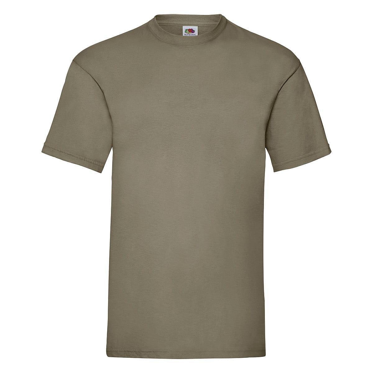 Fruit Of The Loom Valueweight T-Shirt in Khaki (Product Code: 61036)
