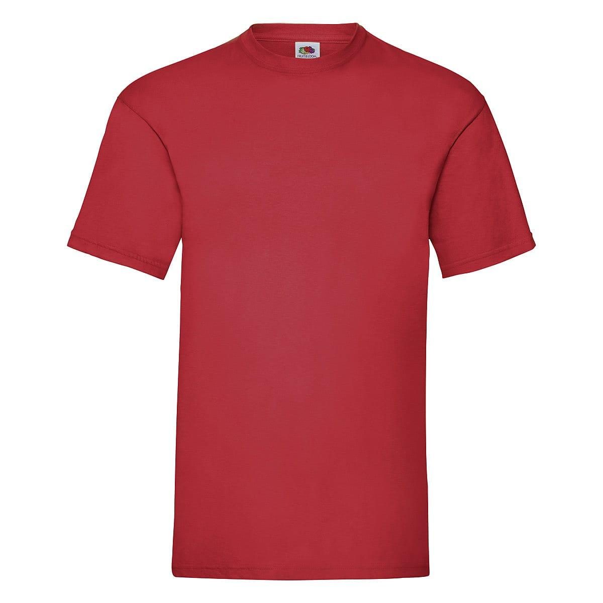 Fruit Of The Loom Valueweight T-Shirt in Red (Product Code: 61036)