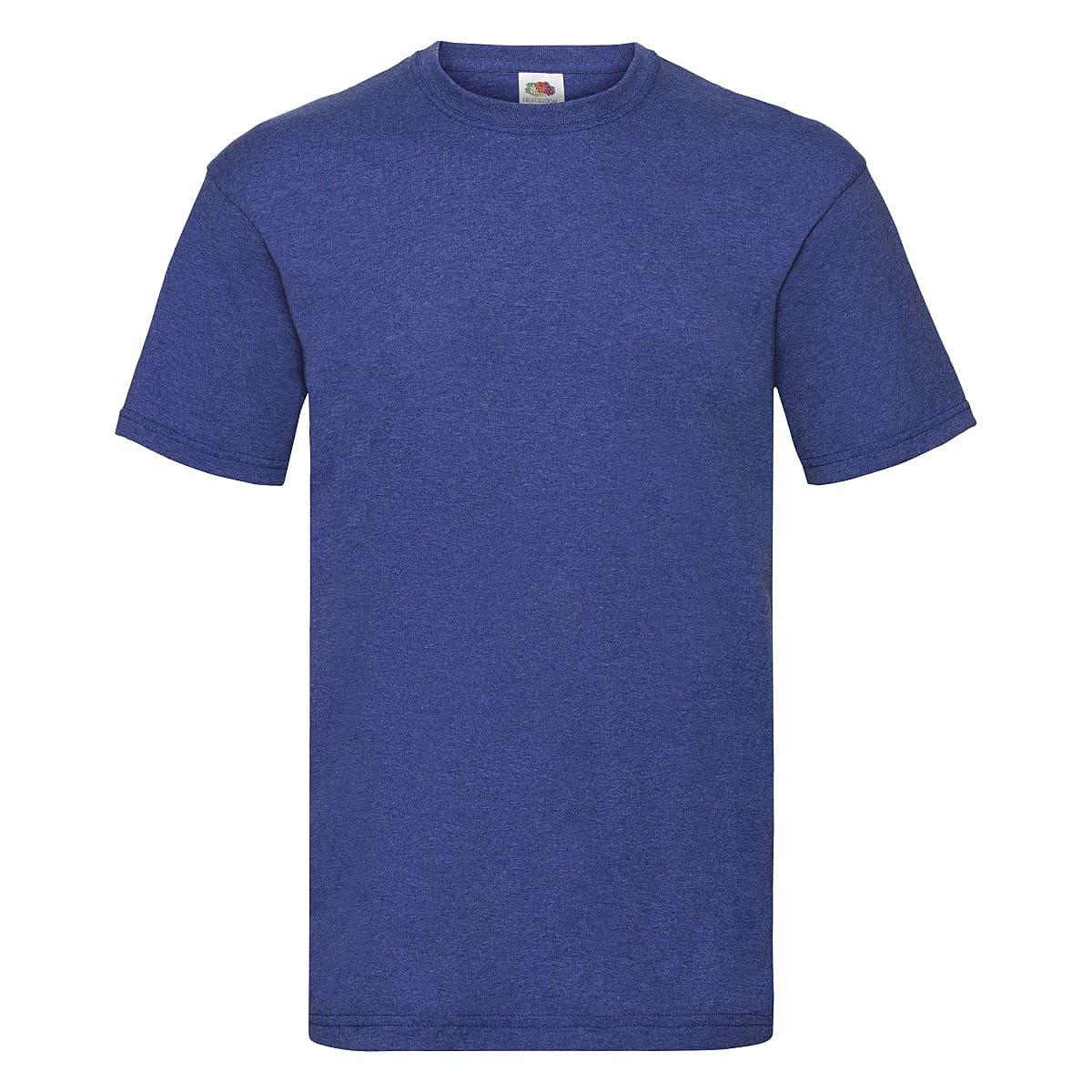 Fruit Of The Loom Valueweight T-Shirt in Retro Heather Royal (Product Code: 61036)