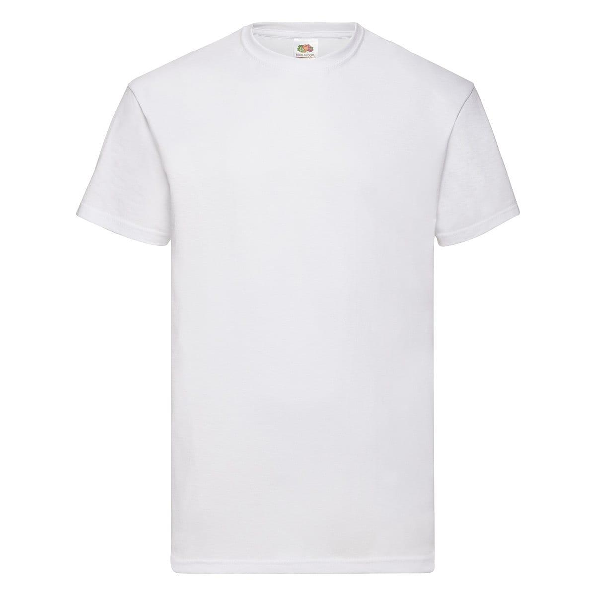 Fruit Of The Loom Valueweight T-Shirt in White (Product Code: 61036)