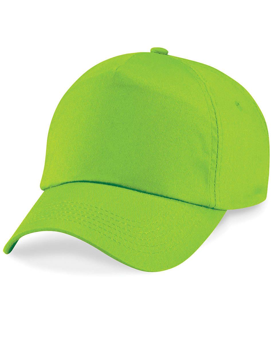 Beechfield Junior Original 5 Panel Cap in Lime (Product Code: B10B)