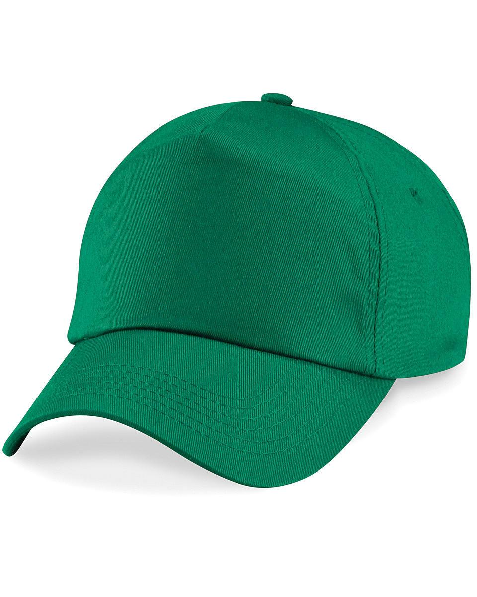 Beechfield Junior Original 5 Panel Cap in Kelly Green (Product Code: B10B)