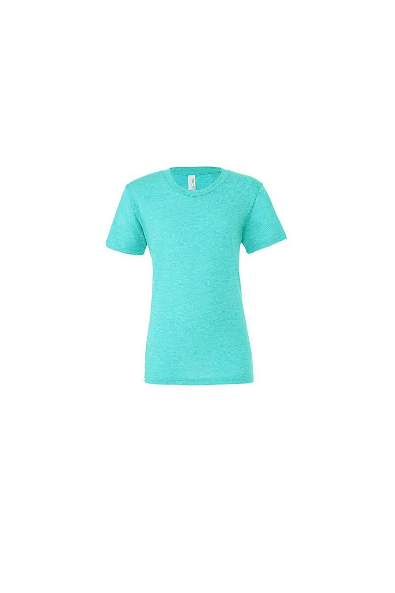 Bella Canvas Mens Tri-blend Short-Sleeve T-Shirt in Sea Green Triblend (Product Code: CA3413)