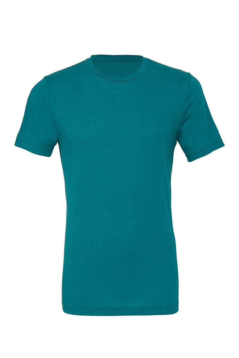 Bella Canvas Mens Tri-blend Short-Sleeve T-Shirt in Teal Triblend (Product Code: CA3413)
