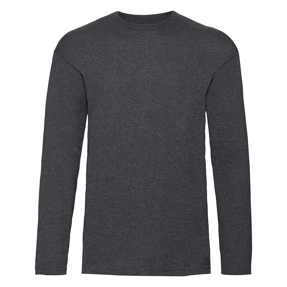 Fruit Of The Loom Valueweight Long-Sleeve T-Shirt in Dark Heather (Product Code: 61038)