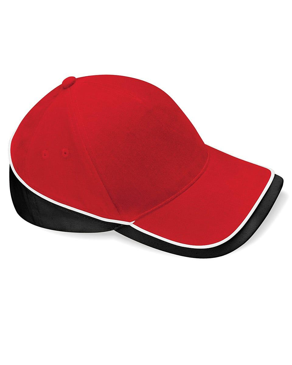 Beechfield Teamwear Competition Cap in Classic Red / Black / White (Product Code: B171)