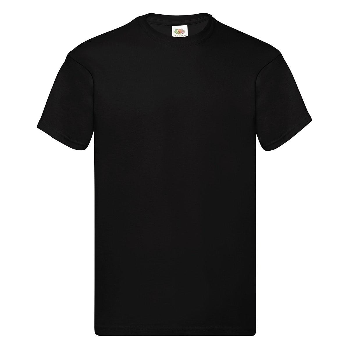 Fruit Of The Loom Original Full Cut T-Shirt in Black (Product Code: 61082)
