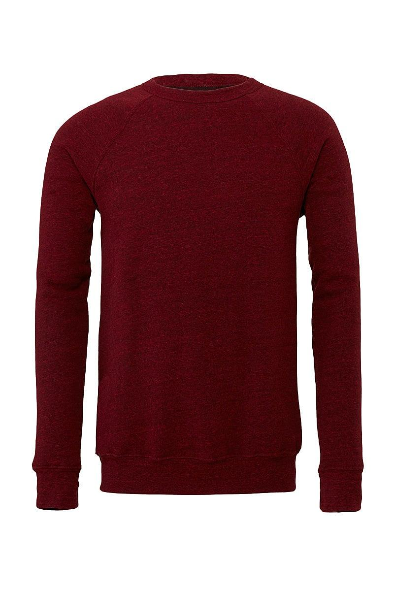 Bella Canvas Unisex Sponge Fleece Raglan Sweater in Cardinal Triblend (Product Code: CA3901)