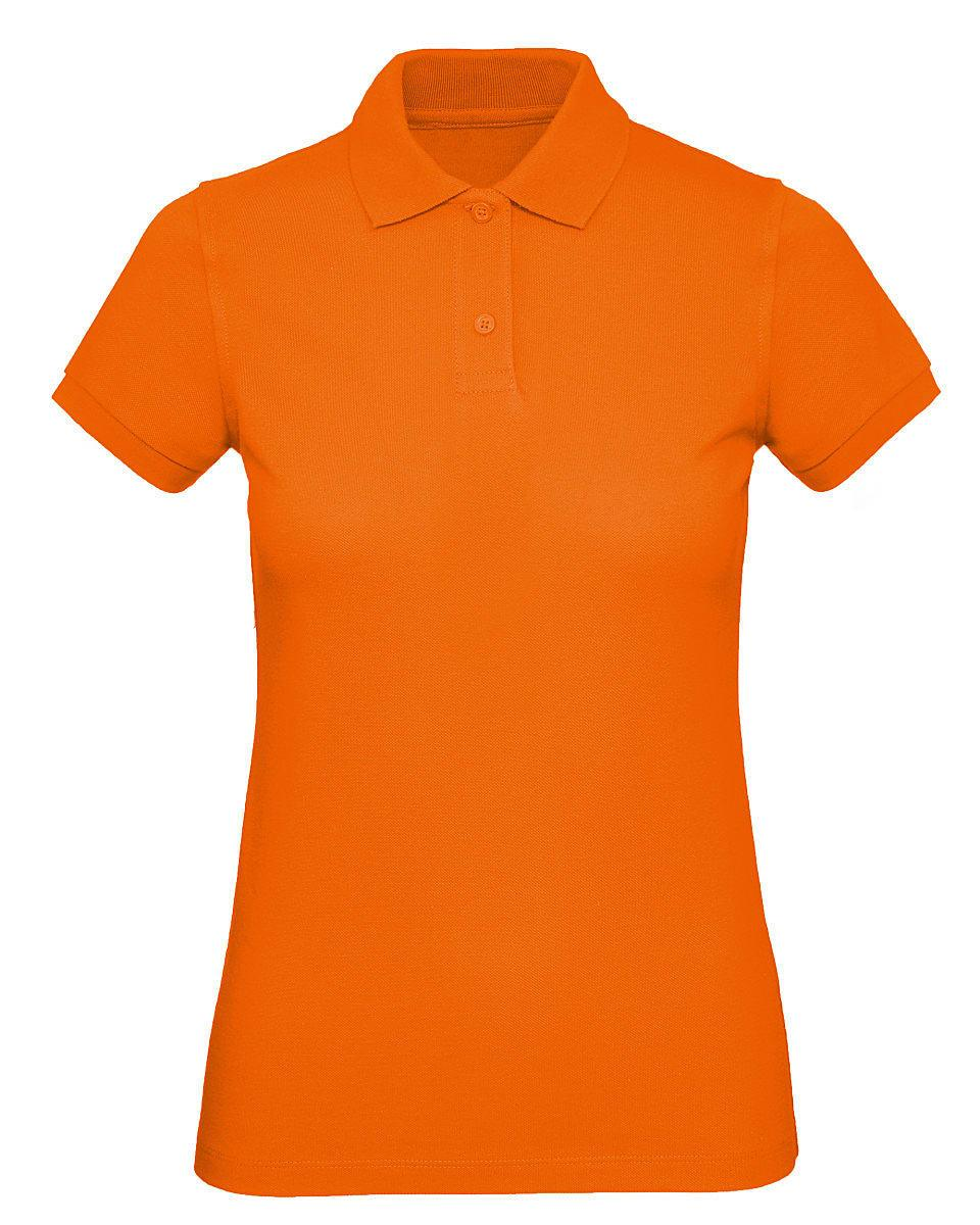 B&C Womens Inspire Polo Shirt in Orange (Product Code: PW440)