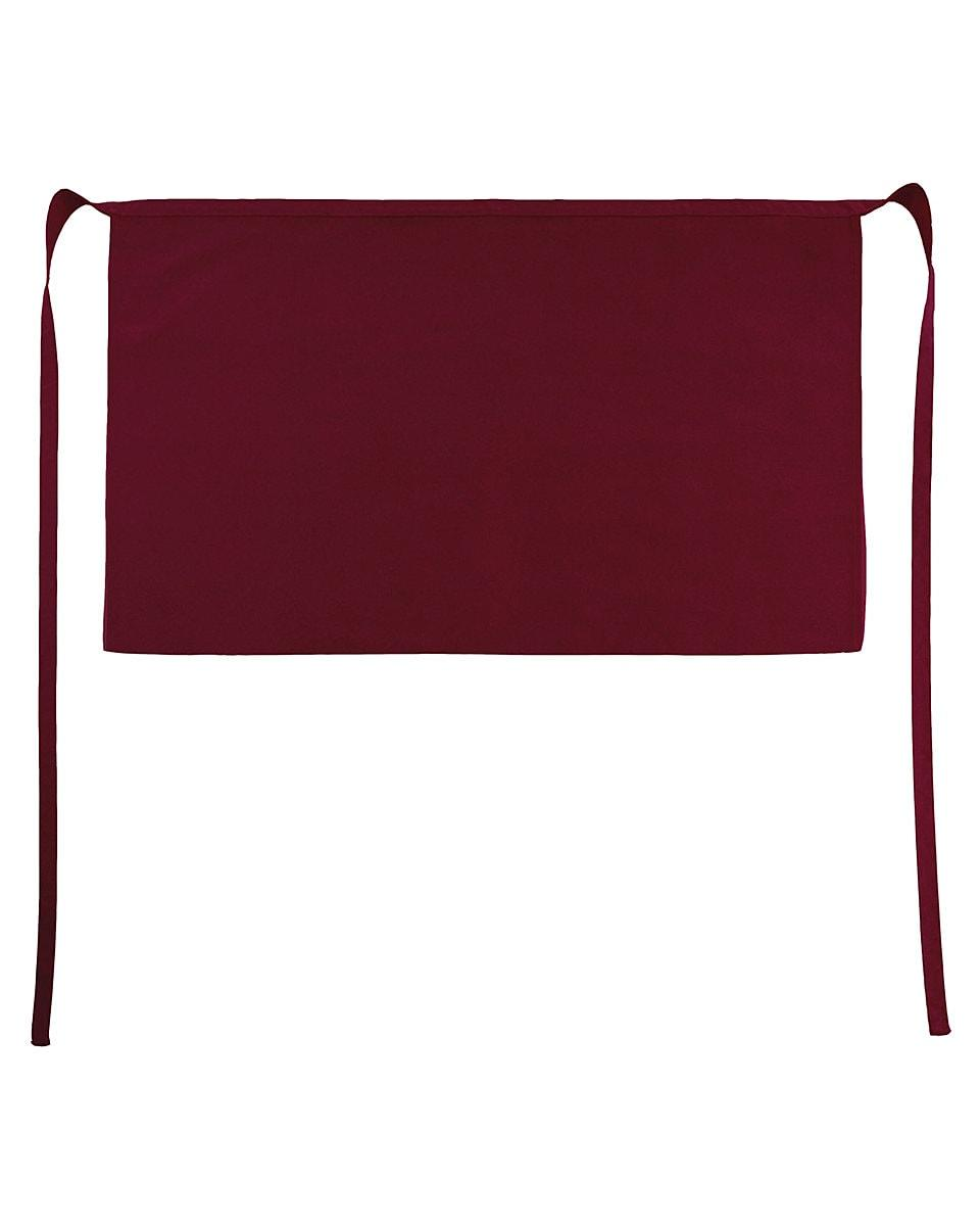 Jassz Bistro Brussels Short Apron in Burgundy (Product Code: JG14)