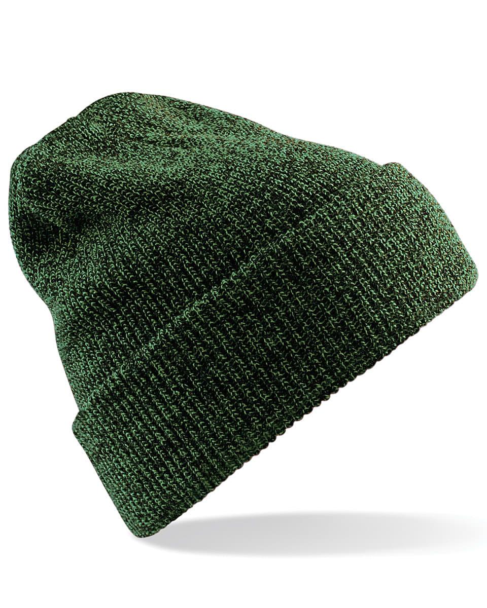 Beechfield Heritage Beanie Hat in Antique Moss Green (Product Code: B425)