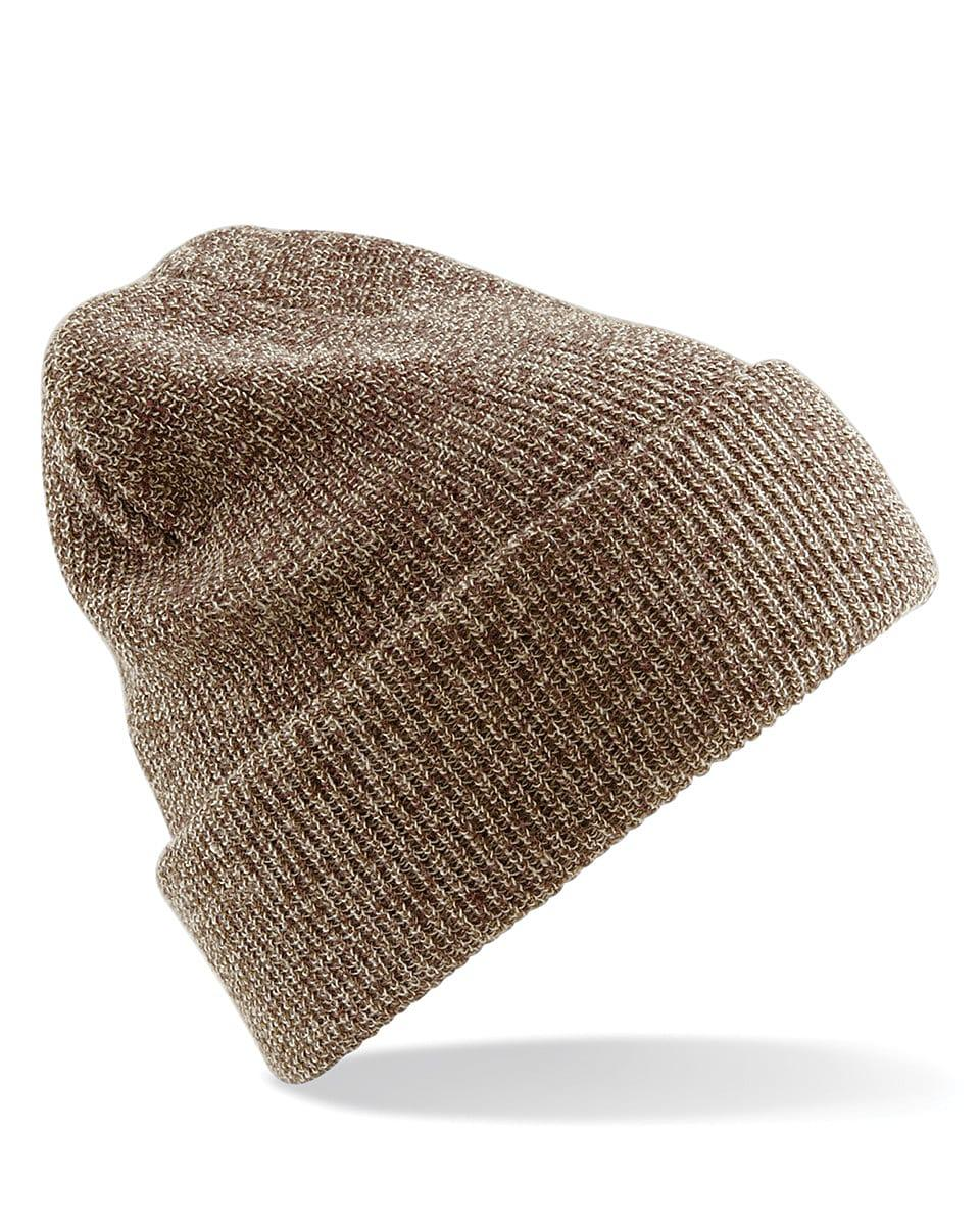 Beechfield Heritage Beanie Hat in Heather Oatmeal (Product Code: B425)