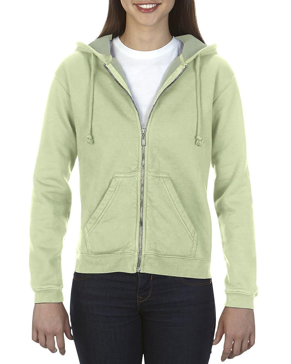 Comfort Colors Womens Full-Zip Hoodie in Celadon (Product Code: CC1598)