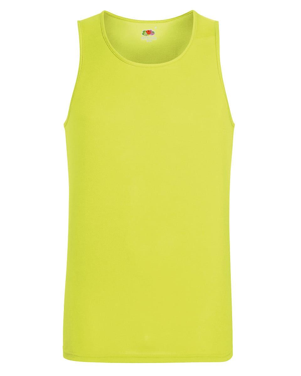 Fruit Of The Loom Mens Performance Vest in Bright Yellow (Product Code: 61416)