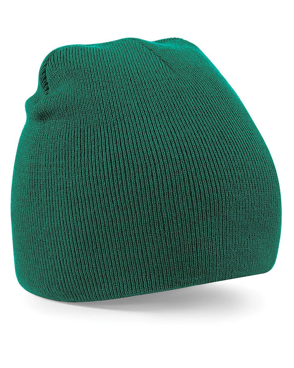 Beechfield Original Pull-On Beanie Hat in Bottle Green (Product Code: B44)