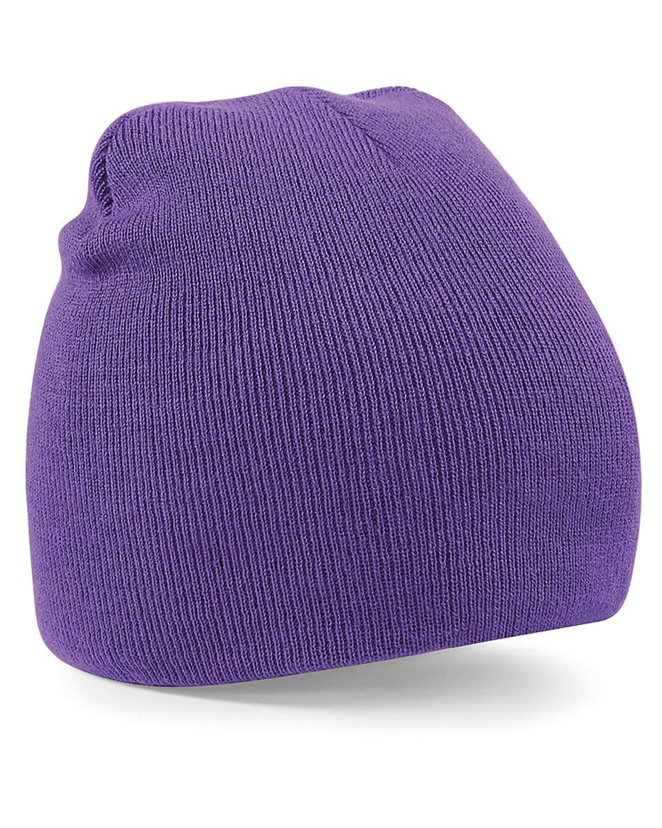 Beechfield Original Pull-On Beanie Hat in Purple (Product Code: B44)