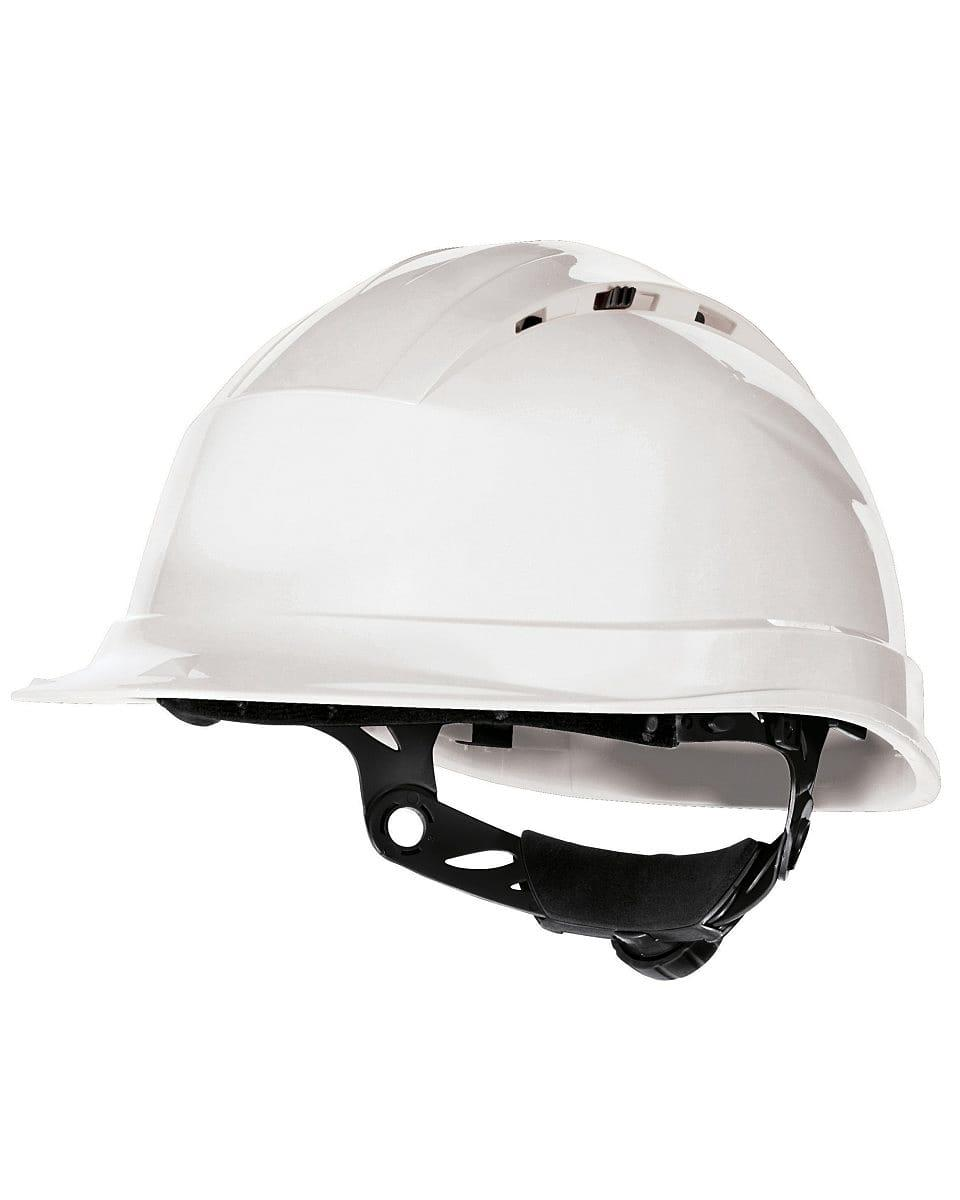 Delta Plus Quartz Rotor Safety Helmet in White (Product Code: QUARTZ4)