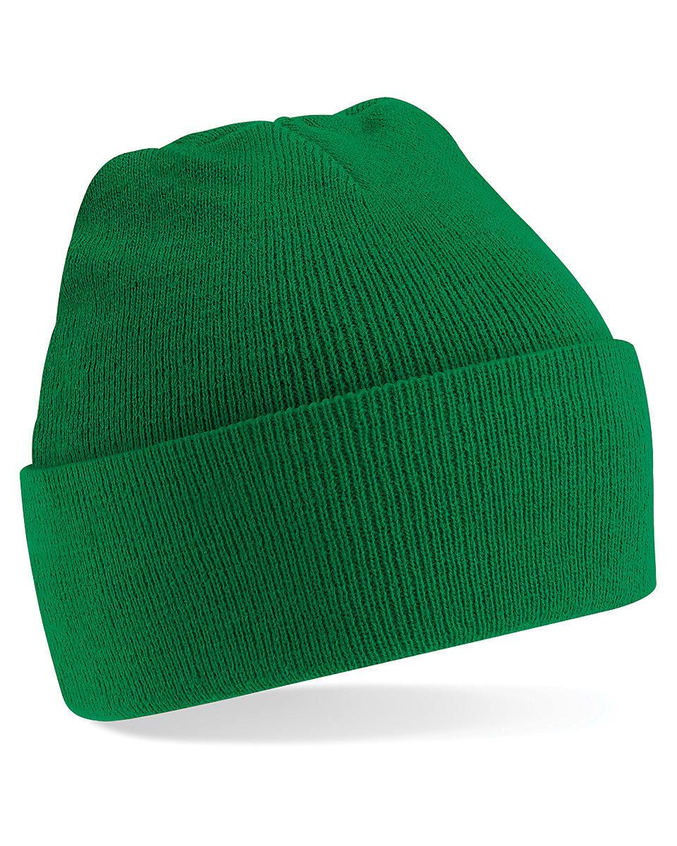 Beechfield Original Cuffed Beanie Hat in Kelly Green (Product Code: B45)