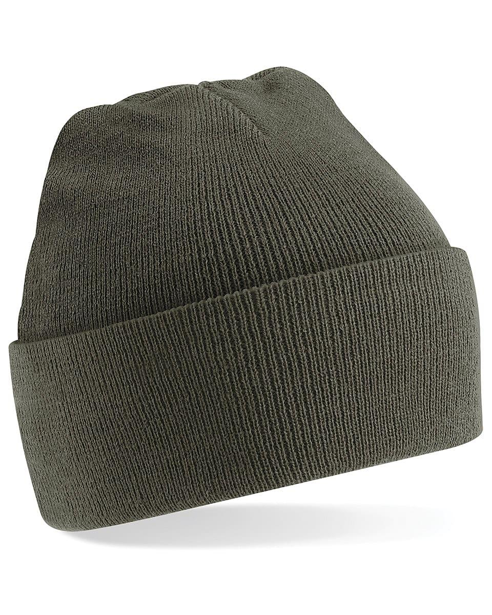 Beechfield Original Cuffed Beanie Hat in Olive (Product Code: B45)