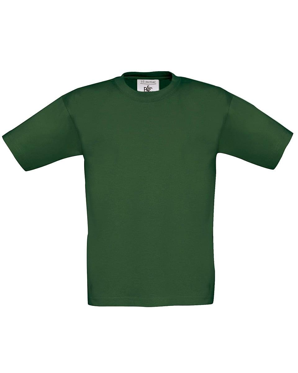 B&C Childrens Exact 150 T-Shirt in Bottle Green (Product Code: TK300)