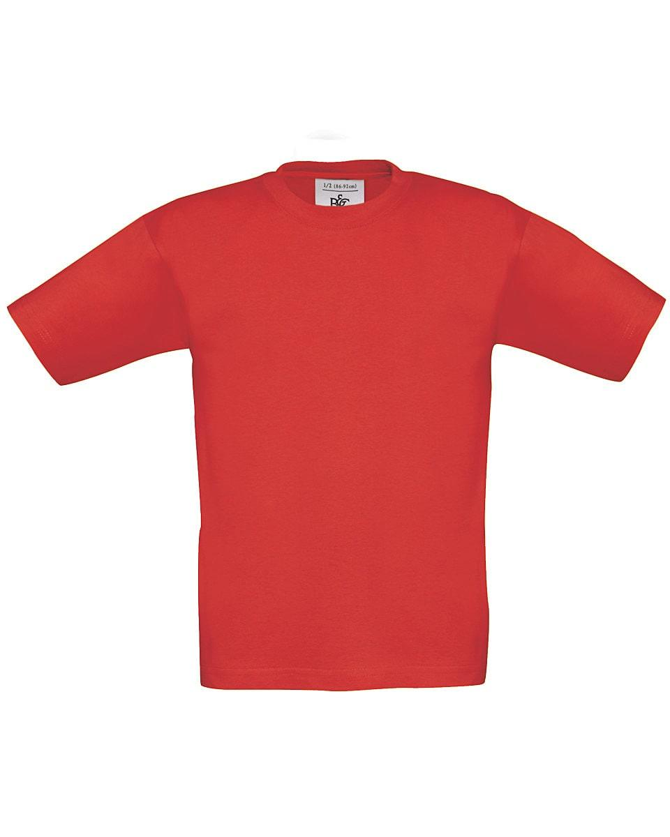 B&C Childrens Exact 190 T-Shirt in Red (Product Code: TK301)