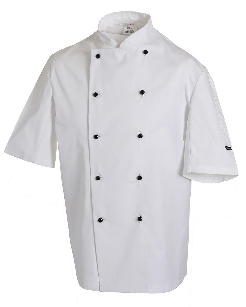 Dennys Lightweight Short-Sleeve Chefs Jacket in White (Product Code: DD20S)