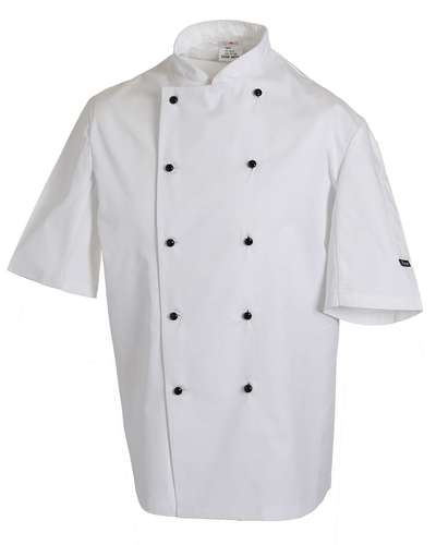 Dennys Lightweight Short-Sleeve Chefs Jacket
