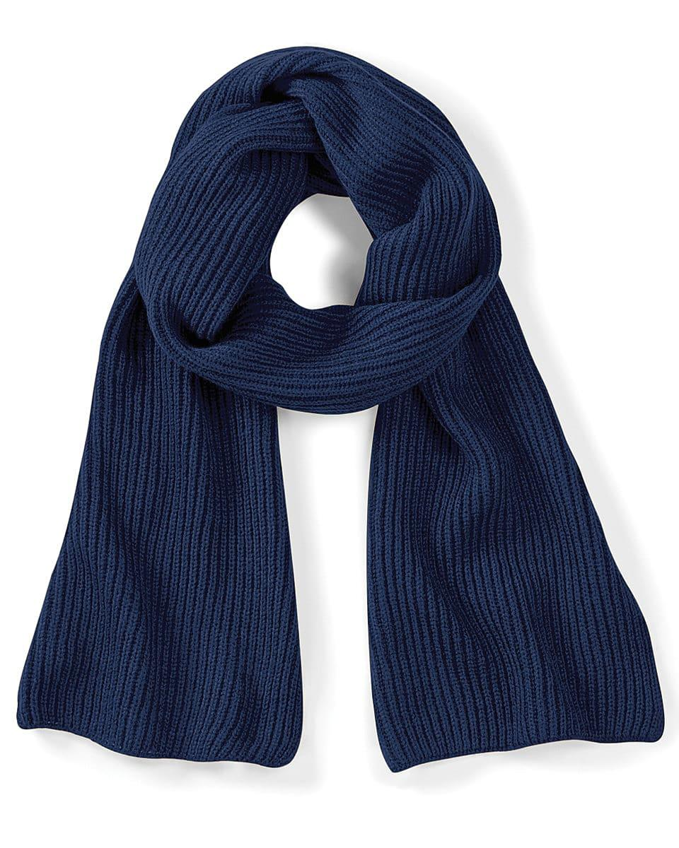 Beechfield Metro Knitted Scarf in French Navy (Product Code: B469)