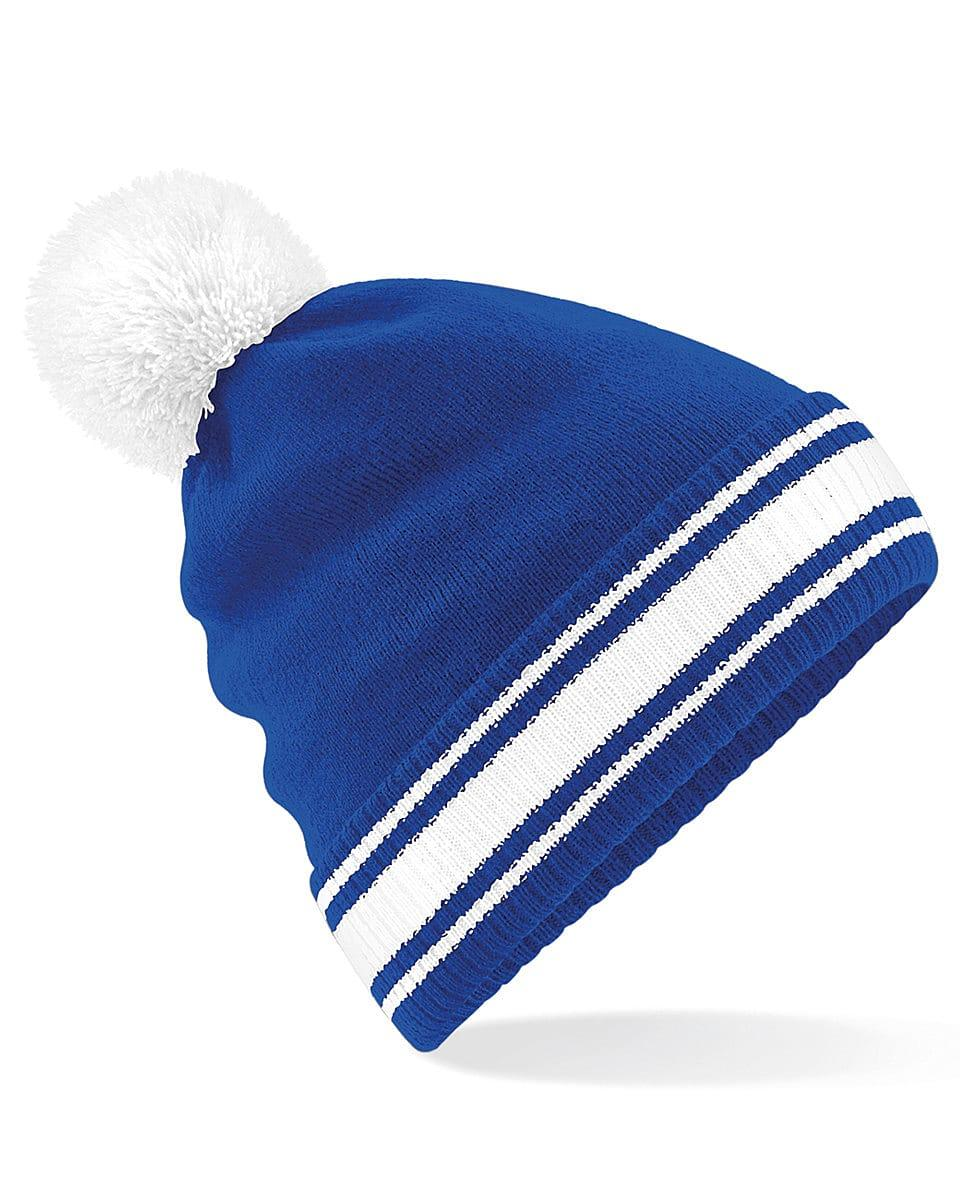 Beechfield Stadium Beanie Hat in Bright Royal / White (Product Code: B472)