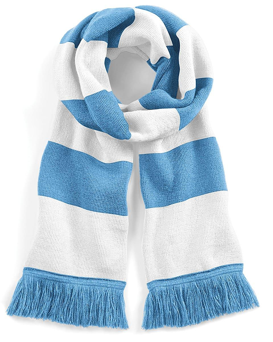Beechfield Varsity Scarf in Sky / White (Product Code: B479)