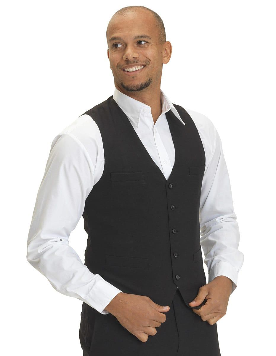 Dennys Mens Self Back Waistcoat in Black (Product Code: DS07)