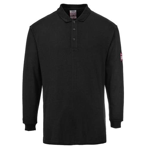 Portwest Flame Resistant Anti-Static Long-Sleeve Polo Shirt