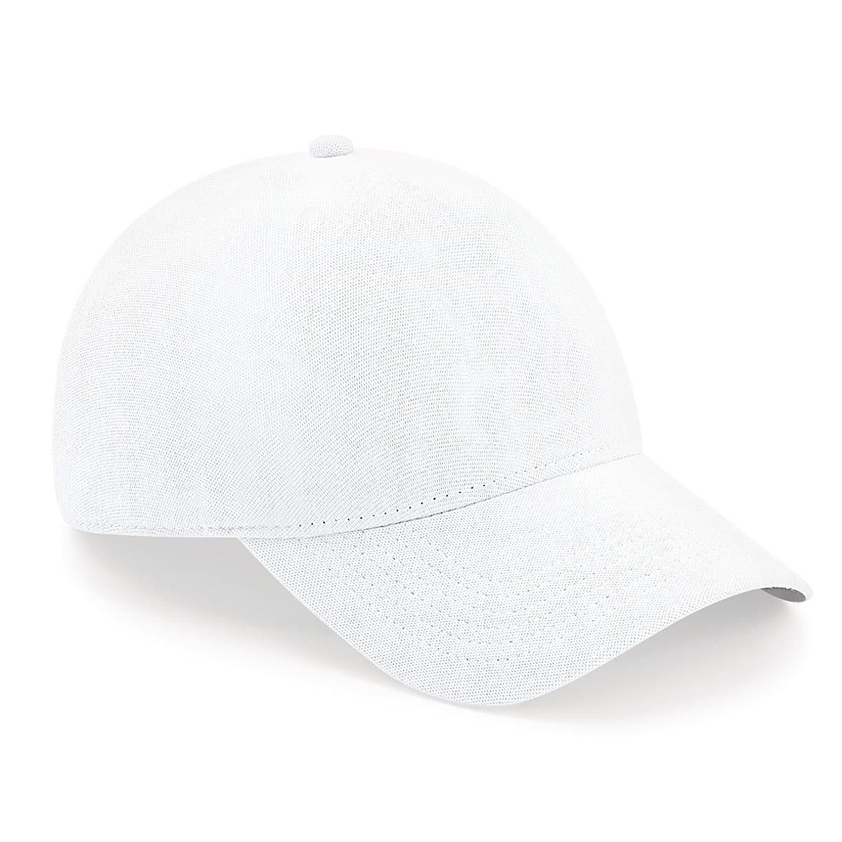 Beechfield Seamless Waterproof Cap in White (Product Code: B550)