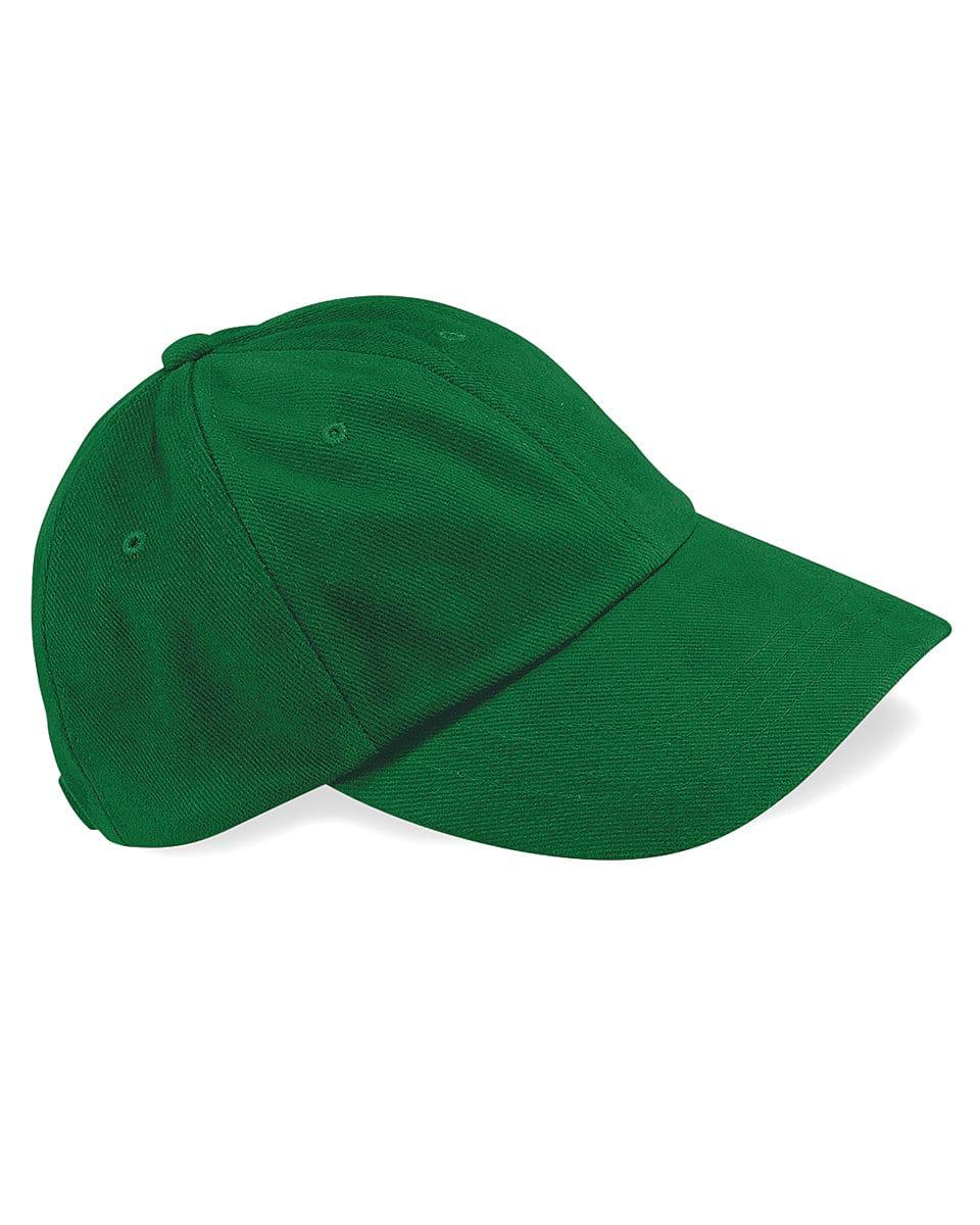Beechfield LP Heavy Brushed Cotton Cap in Forest Green (Product Code: B57)