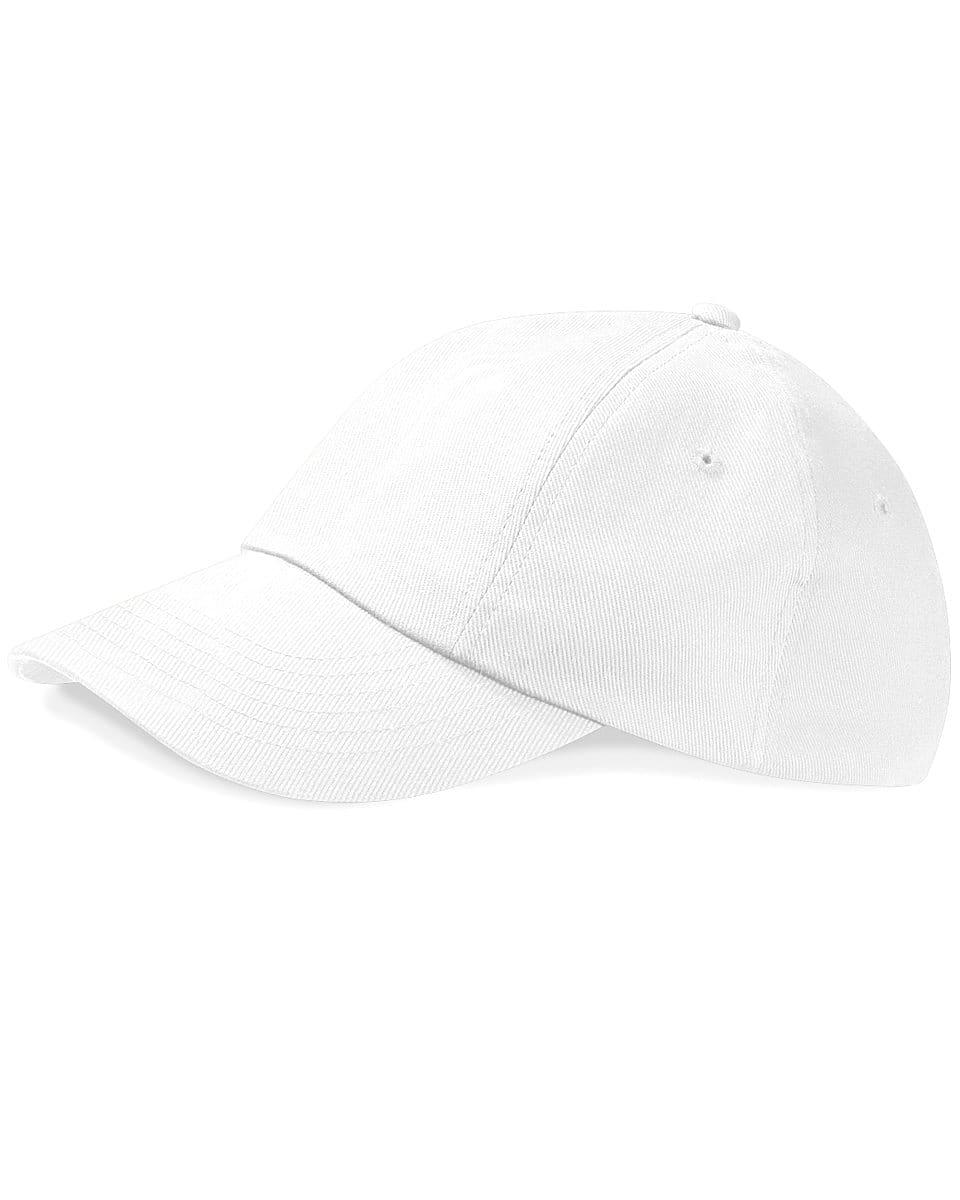 Beechfield Low Profile Heavy Drill Cap in White (Product Code: B58)
