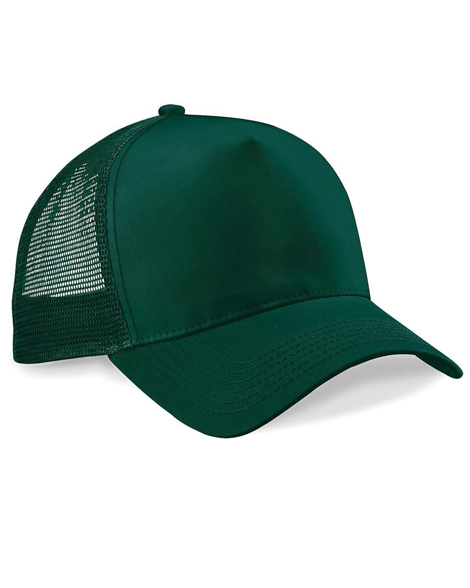 Beechfield Snapback Trucker Cap in Bottle Green (Product Code: B640)