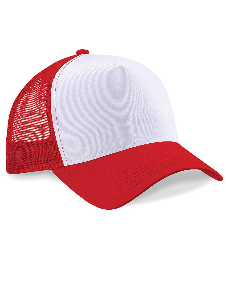 Beechfield Snapback Trucker Cap in Classic Red / White (Product Code: B640)