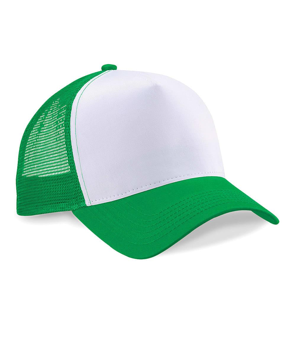 Beechfield Snapback Trucker Cap in Pure Green / White (Product Code: B640)