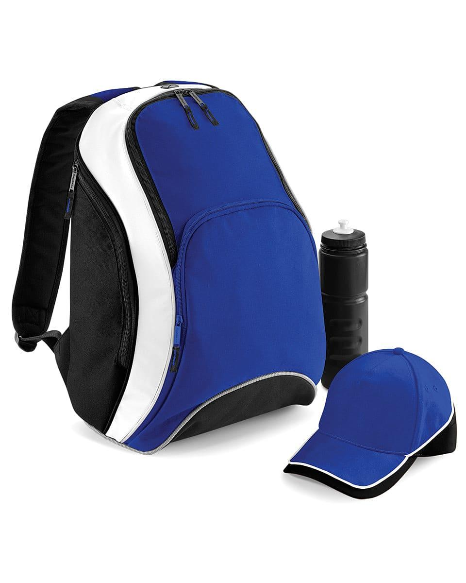 Bagbase Teamwear Backpack in Bright Royal / Black / White (Product Code: BG571)