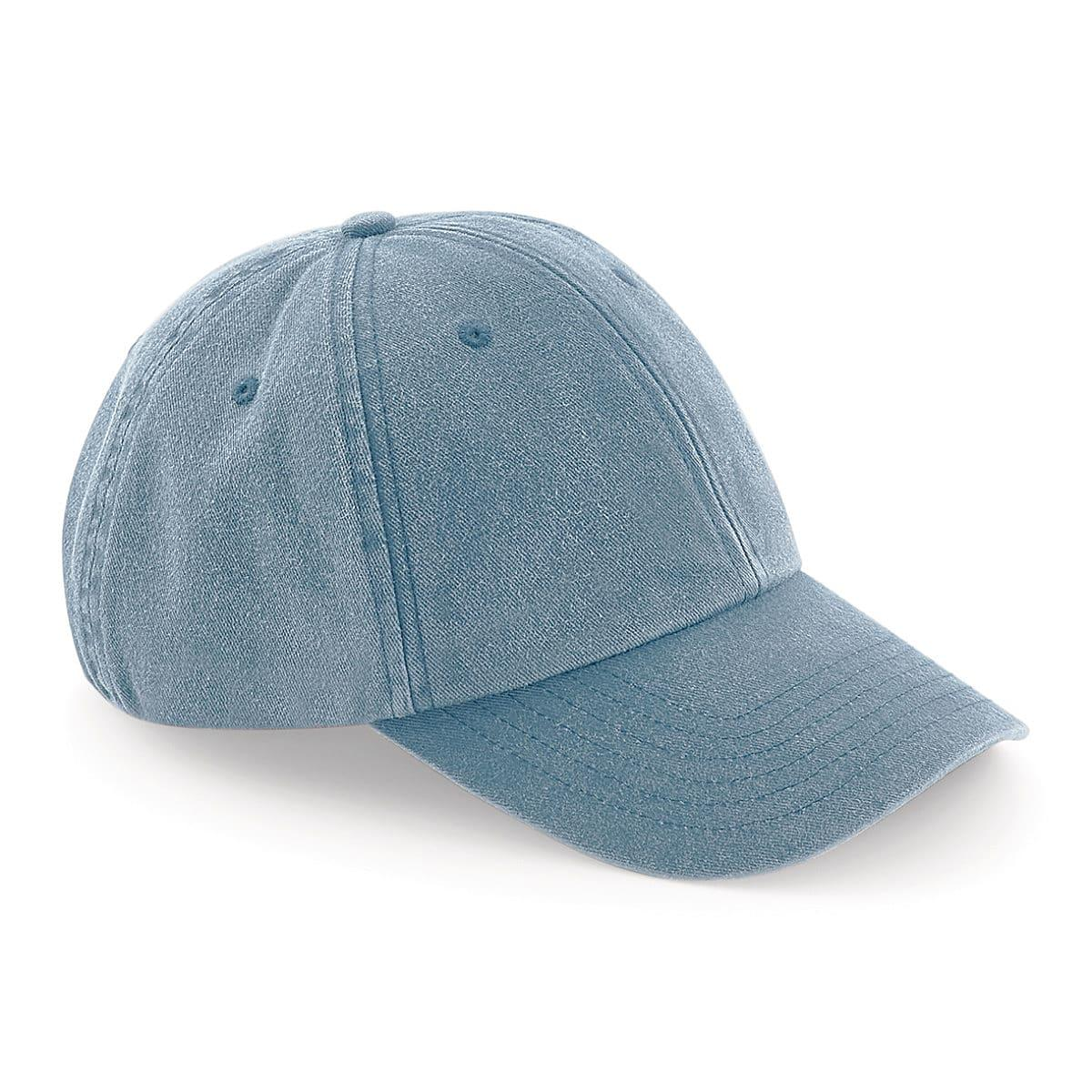 Beechfield Low Profile Vintage Cap in Vintage Light Denim (Product Code: B655)