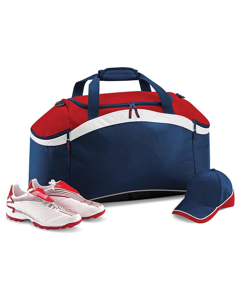 Bagbase Teamwear Holdall in French Navy / Classic Red / White (Product Code: BG572)