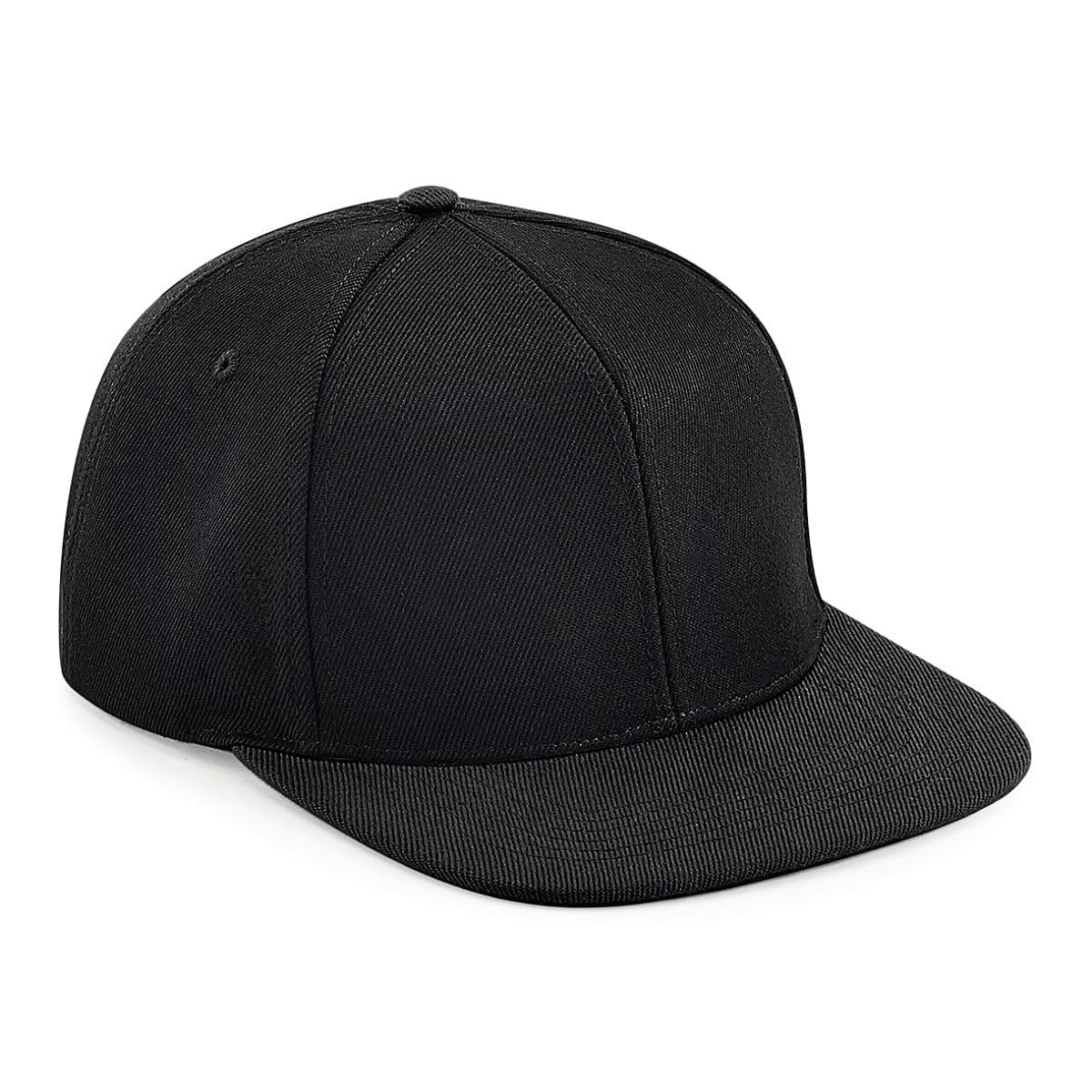 Original Flat Peak 6 Panel Snapback Cap in Black (Product Code: B661)