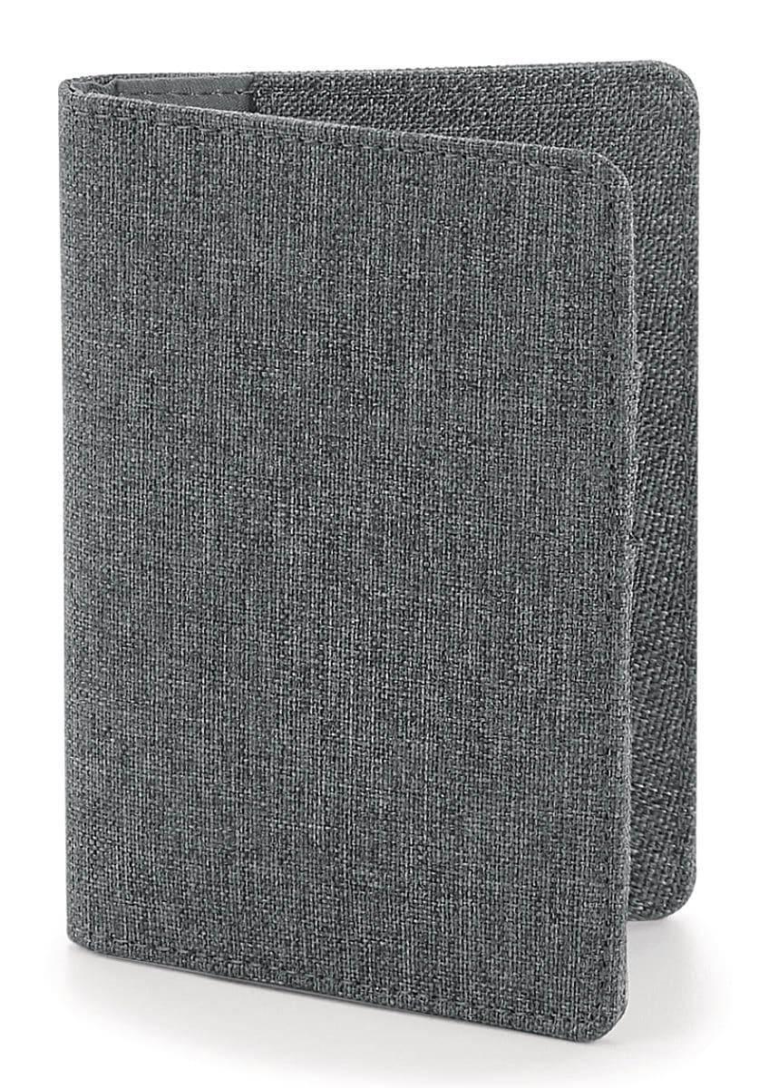 Bagbase Essential Passport Cover in Grey Marl (Product Code: BG60)