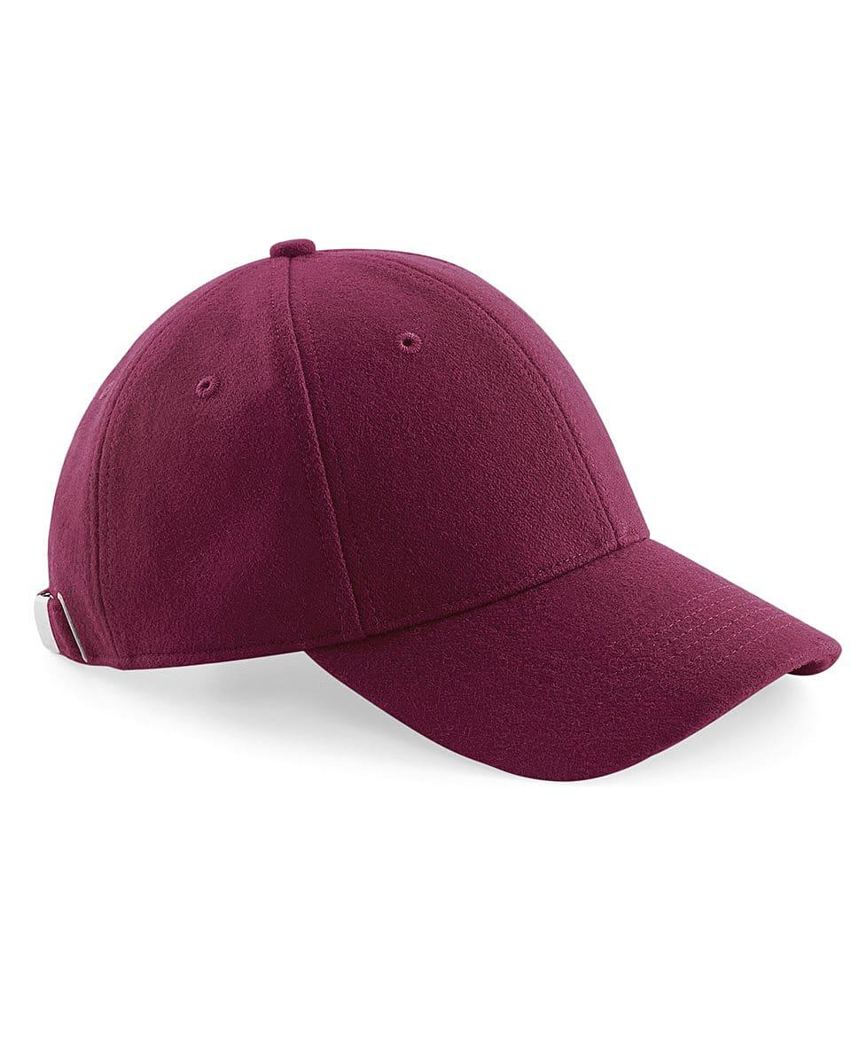 Beechfield Melton Wool 6 Panel Cap in Burgundy (Product Code: B674)