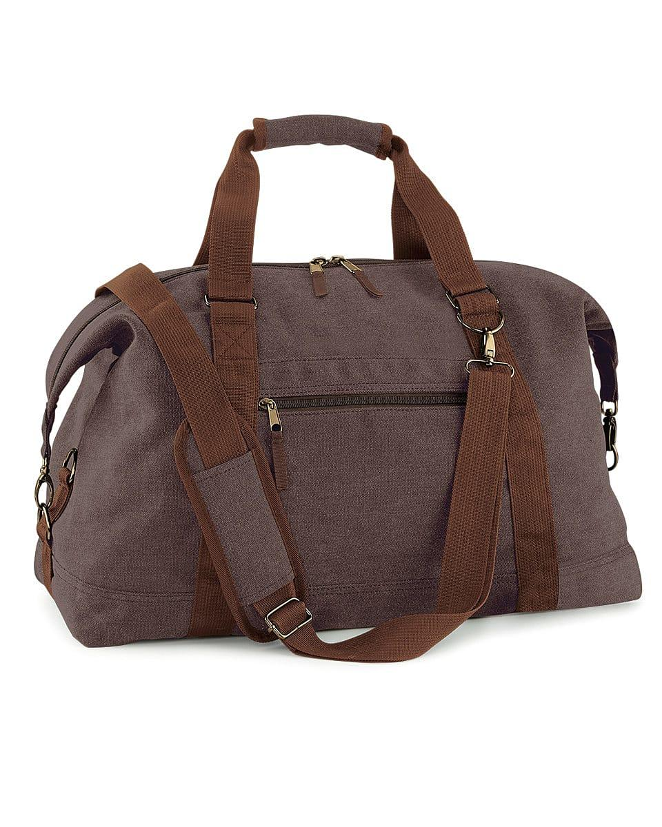 Bagbase Vintage Canvas Weekender in Vintage Brown (Product Code: BG650)