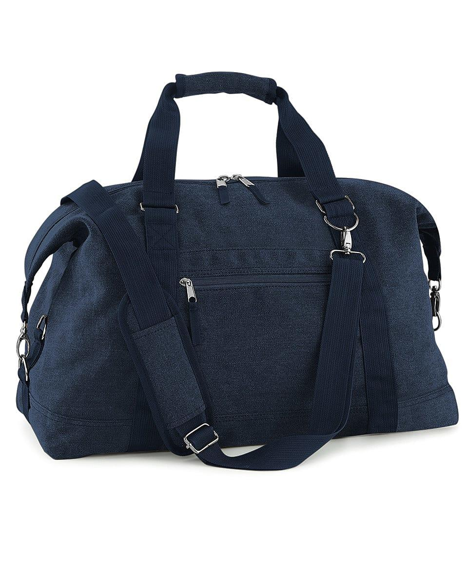 Bagbase Vintage Canvas Weekender in Vintage Oxford Navy (Product Code: BG650)