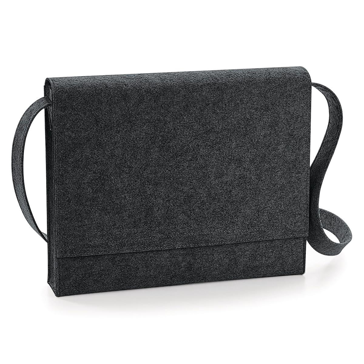 Bagbase Felt Messenger in Charcoal Melange (Product Code: BG730)