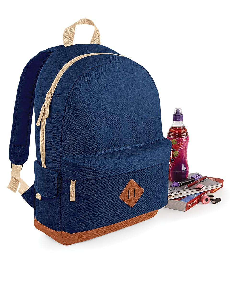 Bagbase Heritage Backpack in French Navy (Product Code: BG825)