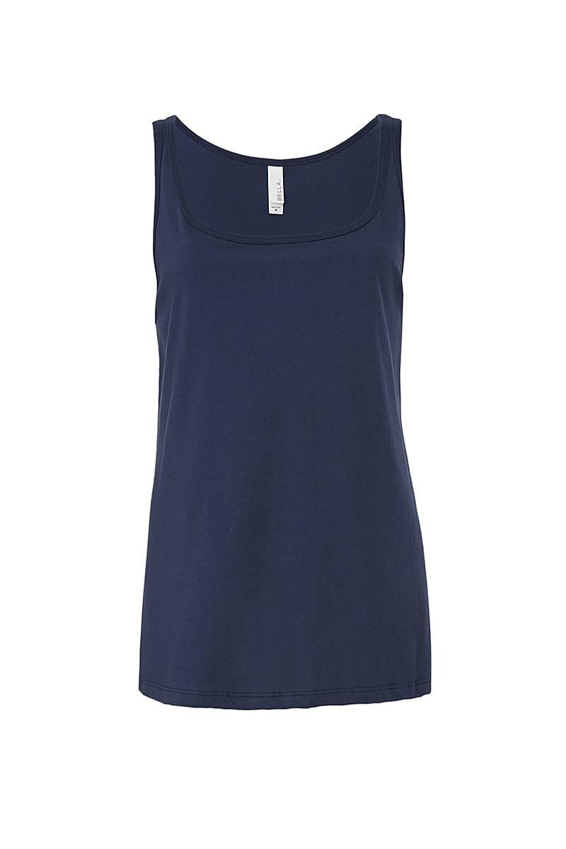 Bella Womens Relaxed Jersey Tank in Navy Blue (Product Code: BE6488)